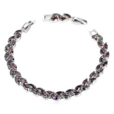 U7 Luxury Cubic Zirconia Chain Bracelet Platinum Plated Fashion Women Adjustable Bracelet (Platinum) (Intl)