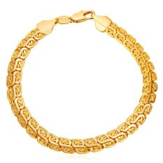U7 Men 18K Gold Plated Chain Bracelet (Gold) (Intl)