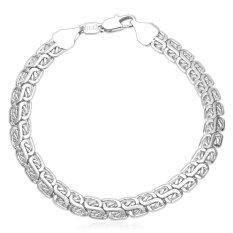 U7 Men Platinum Plated Chain Bracelet (Platinum) (Intl)