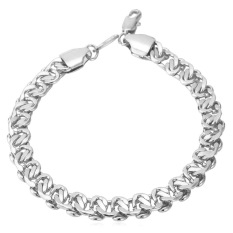 U7 New Chain Bracelet For Men Platinum Plated Fashion Jewelry (Platinum) (Intl)