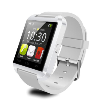 U8 Touch Screen Bluetooth Wrist Bracelet Smart Watch For Ios Android Samsung Htc White - intl