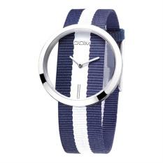 UINN Unique DOM Luxury Women Hollow Out Weaving Cloth Quartz WristWatch For Lady sea blue - intl