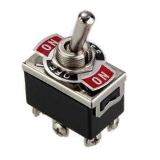 UJS Car Boat DPDT Heavy Duty Metal Tip Toggle ON / OFF Flick Switch 12V (Intl)