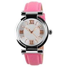 UJS Ladies Fashion PU Leather Damen Quartz Watch Strap Watch Waterproof Watch Pink