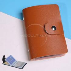 Ultimate 24 slot Dompet Kartu Nama /Tempat Kartu Nama/ Card Holder Atm credit Card OR 90-01 - Brown