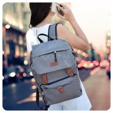 Ultimate Polo Backpack Korean Pria Wanita 839 / Tas Ransel Laptop Kanvas Kualitas Ori Import - Gray
