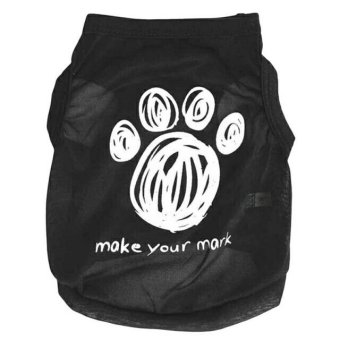 Unipet - Baju Anjing Kucing Make Your Mark Size M - Hitam