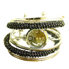 Unique wound bead bracelet watch Lady fashion