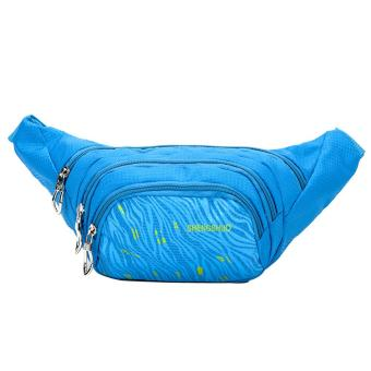 Unisex Waterproof Nylon Sport Waist Bag(Blue) - intl