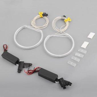 USTORE 4 Pieces LED Angel Eyes Rings Light White For BMW E36 E38 E39 E46 3 5 7 Series White - intl