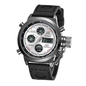 uxury iitary port Watch Quartz Digita Canva iicone Watch(White 2)