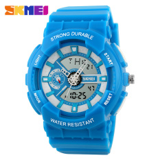 V SHOW 2016 Fashion Women Sports Watches Silicone Candy Colored Men'scasual Quartz Watch Student Watch (Blue) - Intl