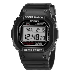 V SHOW Brand Sports Watches Womens Led Digital Wrist Watch For Womenstudents Fashion Wristwatch Rectangle Case (Black) 329 - Intl