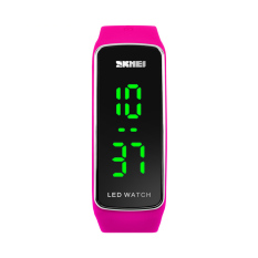 V SHOW Skmei Fashion Cool Digital Led Sports Watch Silicone Strap Studentjelly Watch Unisex Braclet Couple Wristwatch - Intl