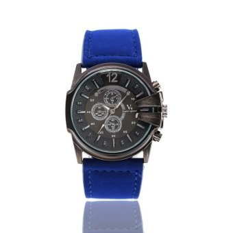 V6 201 Unisex PU Band Analog Quartz Wrist Watch