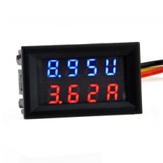 DC 4.5-30.0-50A Dual L Digital Volt Meter Ammeter Voltage AMP Power Sale Red + Blue