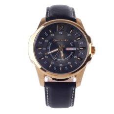 Vanki ORKINA W003 Fashionable Men's Quartz Wrist Watch W / Simple Calendar - Black + Golden 1 x LR626 (Intl)