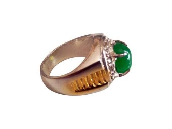 Vee Accessories Cincin Batu Giok CBGHN02 - Hijau Natural