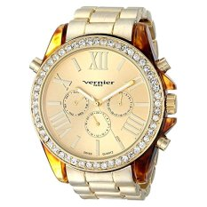 Vernier Paris Women's VNRP11172YG Analog Display Swiss Quartz Gold Watch - Intl
