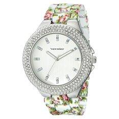 Vernier Women's VNR11167WT Rhinestone-Accented Silver-Tone Watch - Intl