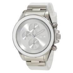 Vestal Unisex ZR2CS03 ZR-2 Rubber Silver White Minimalist Chronograph Watch - Intl