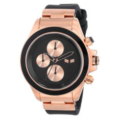 Vestal Unisex ZR2CS05 ZR-2 Rubber Black Rose Gold Minimalist Watch - Intl