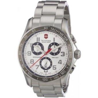Victorinox Mens 241445 Swiss Army Analog Swiss Quartz Silver Watch - intl