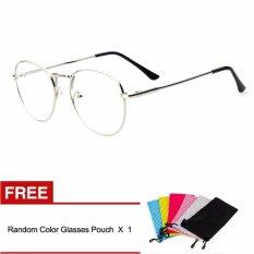 Vintage Adapula Lensa Kacamata Bingkai Kacamata Retro Jelas Lens Eyewear