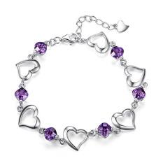 Vintage Jewelry Bracelet 925 Sterling Silver / Gelang Wanita - Ungu
