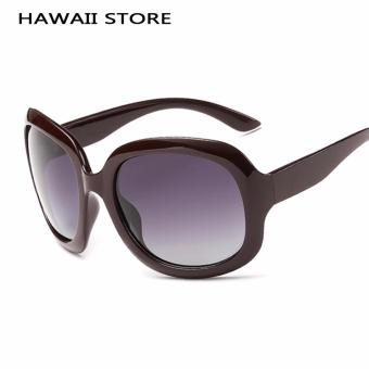 Vintage Oval Lens Plastic UV400 Elegant Women's Polarized Sun Glasses High Quality Outdoor Driving Brand Sunglasses - Intl