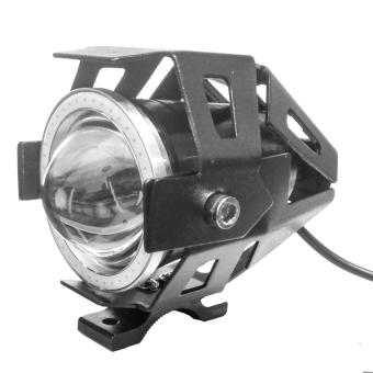 Virgo Racing Lampu Tembak LED U7 Besar Sorot Putih + Eagle Eyes Ring Biru dan Devil Merah