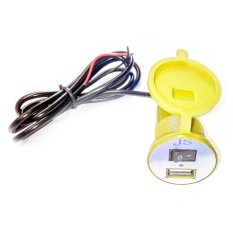 Virgo Racing USB Charger Motor Waterproof- Cas HP di motor - Kuning