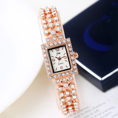 ViuiDueTure Women Korean Fashion Square lady full diamond luxury watch students simple quartz watch - intl