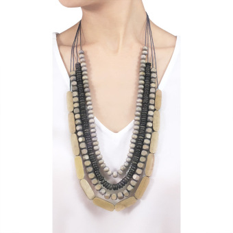 VONA Beads Kalani (Coffee) - Kalung Wanita Manik-manik / Jewellery Necklace For Women