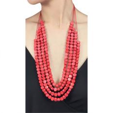 VONA Beads Niji (Merah) - Kalung Wanita Manik-manik / Jewellery Necklace For Women