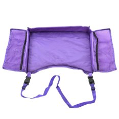 Waterproof Baby Kids Car Safety Seat Snack Drawing Table Play Board Travel Tray Purple