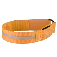Waterproof LED Flashing Light Arm Band Sport Wrist Strap Nylon Band Bracelet For Running Jogging Cycling Camping Concert Disco Party Orange (Intl)