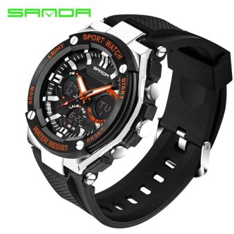 Waterproof Mens Sports Watches Relogio Masculino 2017 Hot Men Silicone Sport Watch Reloj Shockproof Electronic Wristwatches