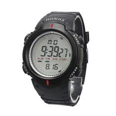Waterproof Outdoor Mountaineering Sports Men Digital LED Quartz Wrist Watch Black