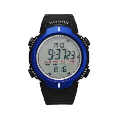 Waterproof Outdoor Mountaineering Sports Men Digital LED Quartz Wrist Watch Blue (Intl)