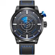 Weide Japan Quartz Miyota Men Leather Sports Watch 30M Water Resistance - WH5201 (Blue)