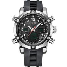 WEIDE Sport Watch Digital Waterproof 3ATM Men's Quartz Movement Analog Digital Date Alarm Military Men Stopwatch (Black)