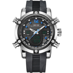 WEIDE Sport Watch Digital Waterproof 3ATM Men's Quartz Movement Analog Digital Date Alarm Military Men Stopwatch (Blue)