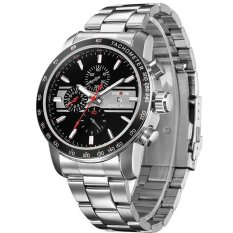 WEIDE WH-3313 Men's Fashion Stainless Waterproof Quartz (Black&red&silver) (Intl)