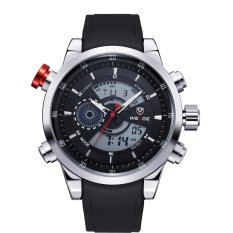 Weide Japan Quartz Silicone Strap Men Sports Watch 30M Water Resistance - WH3401 - Hitam