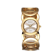 WEIQIN Brand Magic Luxury Rose Gold Watch Full Stainless Steel Fashion Lady Commercial Watches White Gold (Intl)