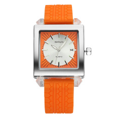 Weiqin Date Luminous Silicone Strap Men's Sports Watches Brand Shock Resistant Quartz Watch Time Hours Boys Relogios Masculinos (Orange) (Intl)
