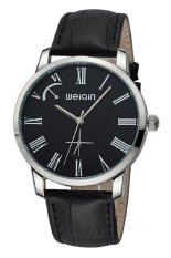 Weiqin Fashion Roma Number Time Display 5ATM Waterproof Black Band Men Watch (Intl)