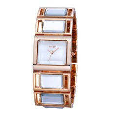 Weiqin Luxury Hardlex Gold Mirror Strap Women's Bracelet Watches Colorful Shell Square Dial Fashion Watch Lady Relogio Feminino?Gold Shell Dial