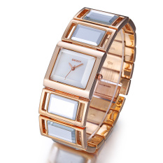 Weiqin Luxury Hardlex Gold Mirror Strap Women's Bracelet Watches Gold Shell Dial (Intl)
